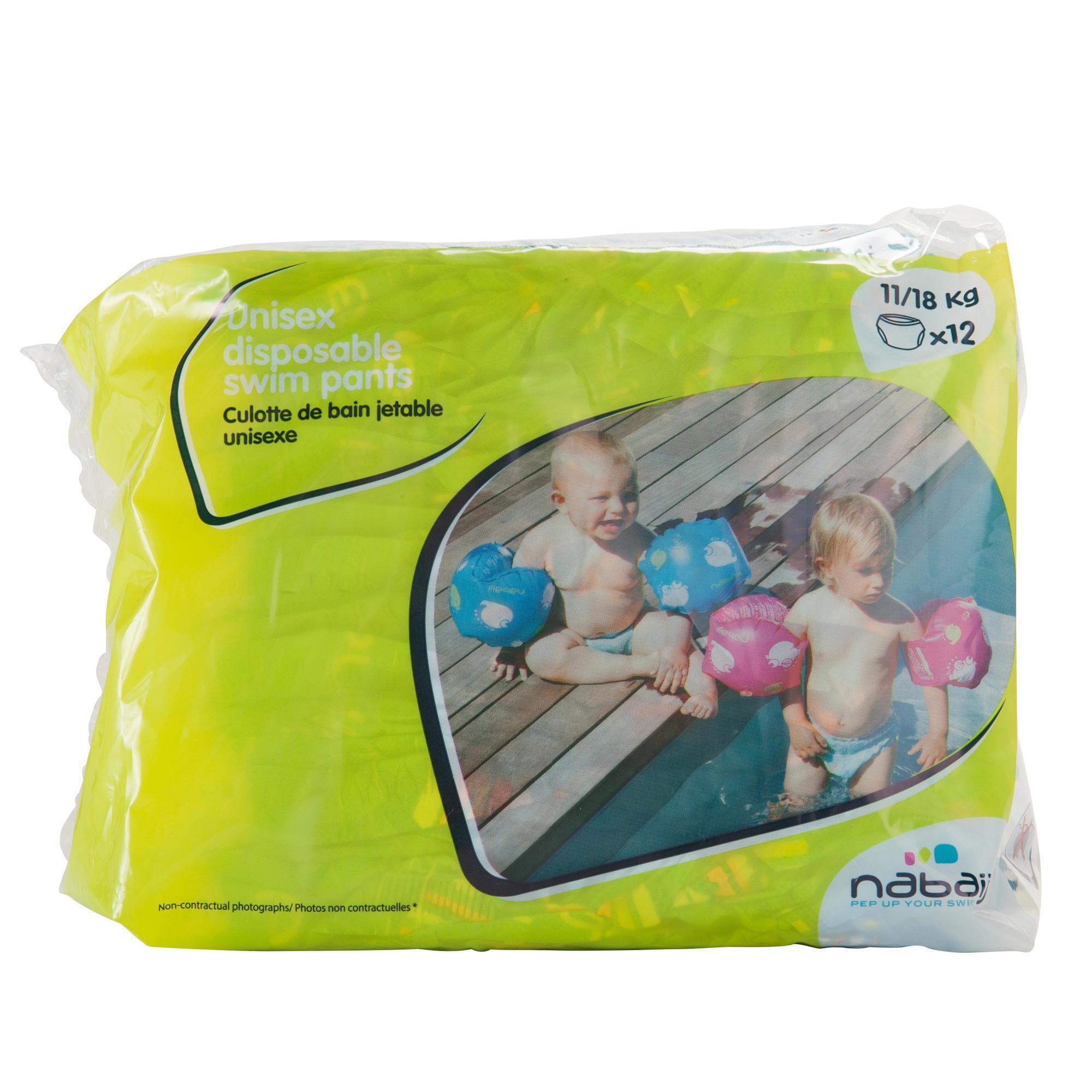 Wegwerpluiers voor wateractiviteiten, voor baby's van 11-18 kg.