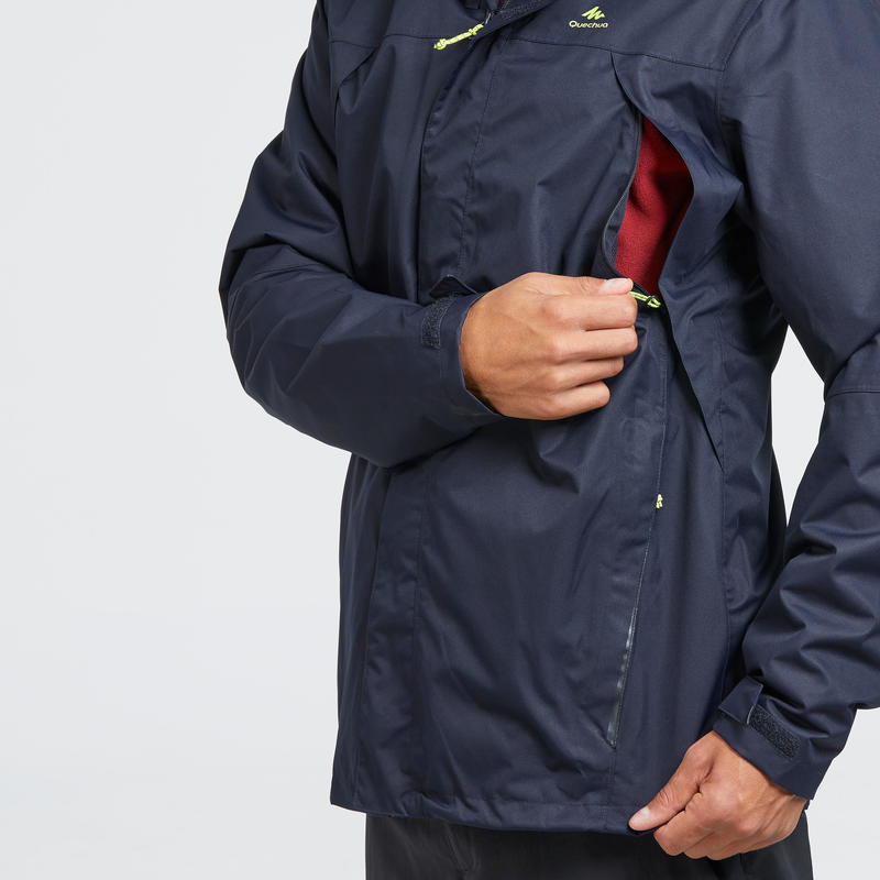 Men's waterproof mountain walking jacket MH100