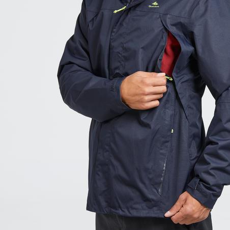 MH100 Men's Waterproof Mountain Walking Rain Jacket - Blue