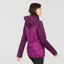 Veste impermeable de senderismo montaña mujer MH100 Ciruela jaspeado