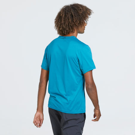 MH100 t-shirt hiking gunung lengan pendek pria - turquoise
