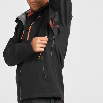 Veste pluie randonnée montagne MH500 imperméable homme Noir