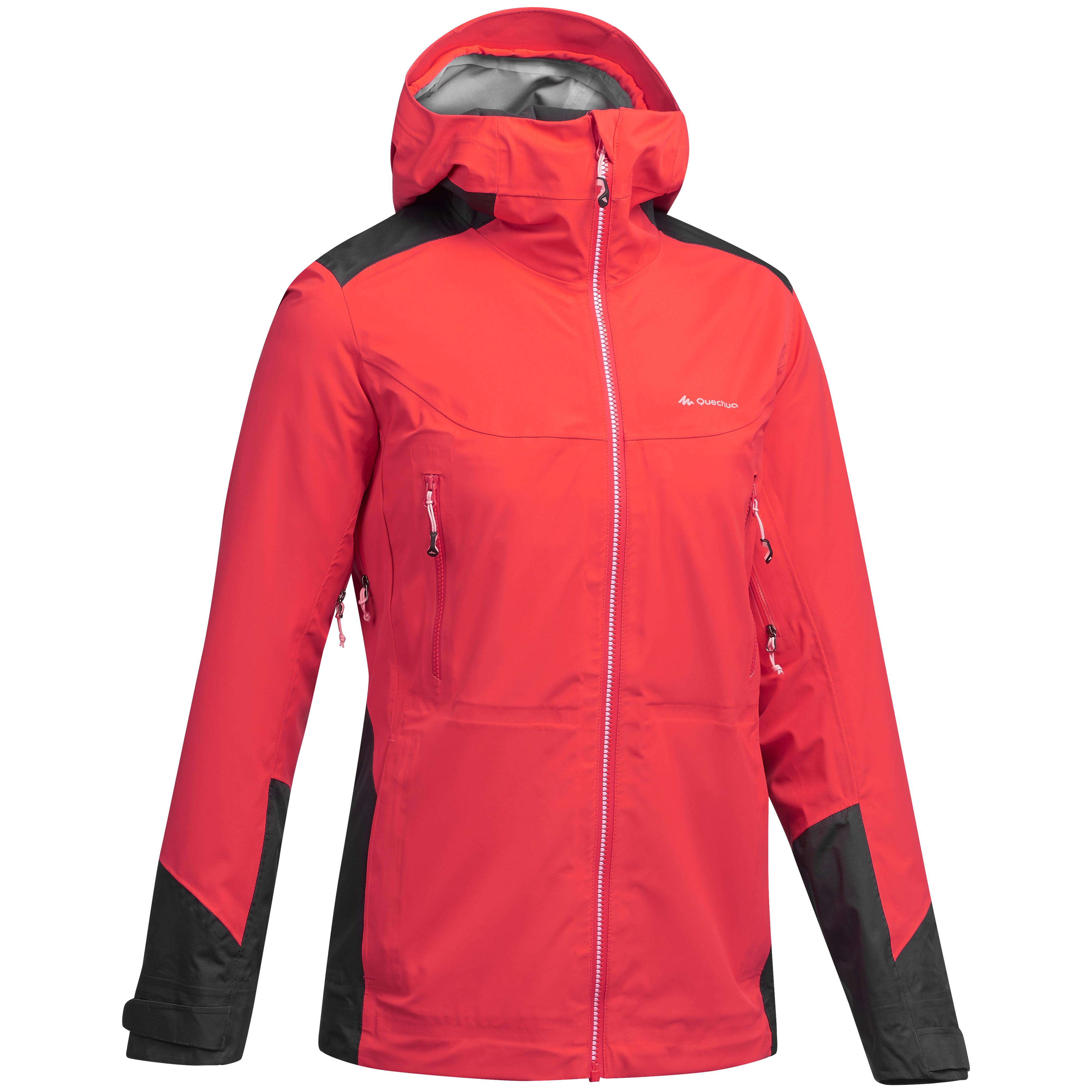 Wanderjacke Bergwandern MH900 wasserdicht Damen orange   Sportbekleidung > Sportjacken > Outdoorjacken   Rot   Quechua