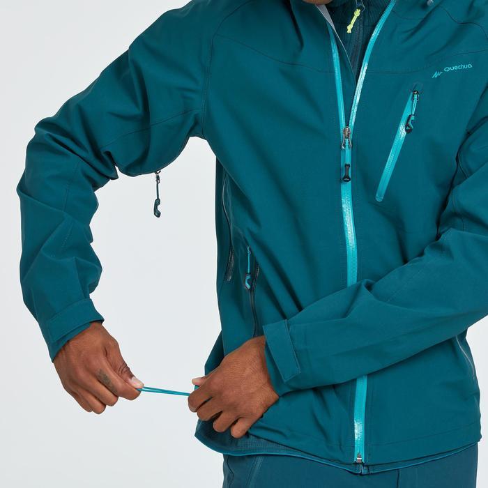 Wanderjacke Bergwandern MH500 wasserdicht Herren dunkelblau