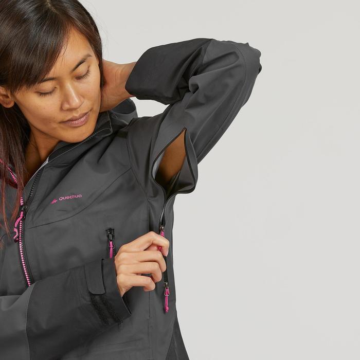 Waterdichte damesjas voor bergwandelen MH900 zwart