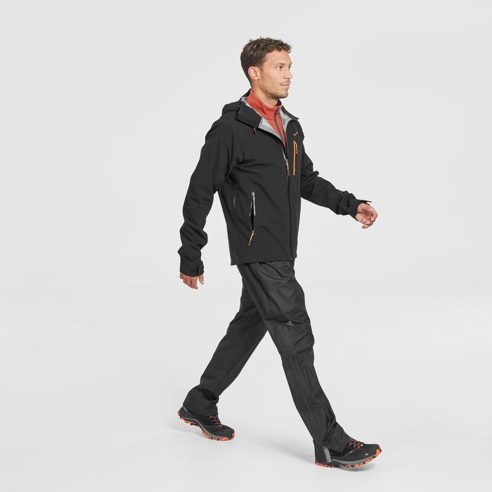 MH500 Men's Waterproof Mountain Hiking Rain Jacket - Black
