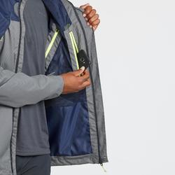 男款登山健行防雨外套MH100-藍色及卡其色