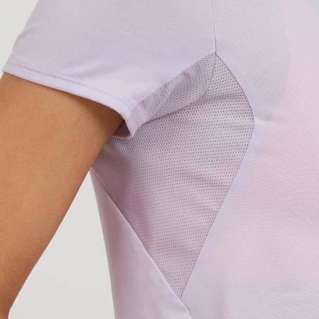 T-shirt MH100 lengan pendek mendaki wanita - Mauve
