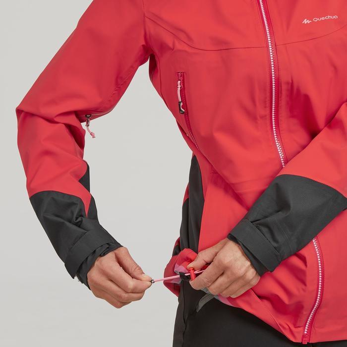Chaqueta impermeable de senderismo montaña mujer MH900 Rojo anaranjado