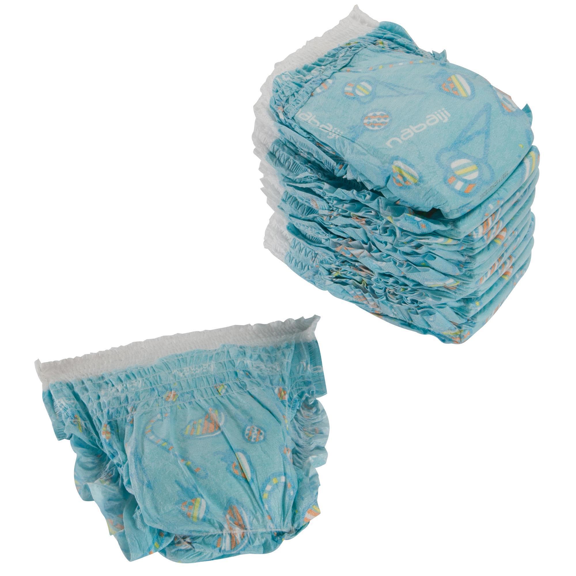 Wegwerpluiers voor wateractiviteiten voor baby's van 6-12 kg.