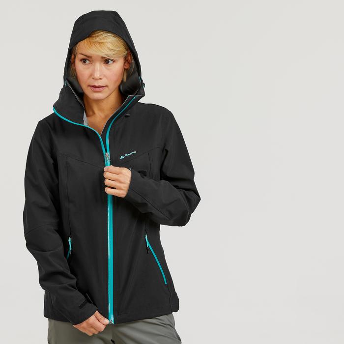 Waterdichte wandeljas voor bergtochten dames MH500 zwart