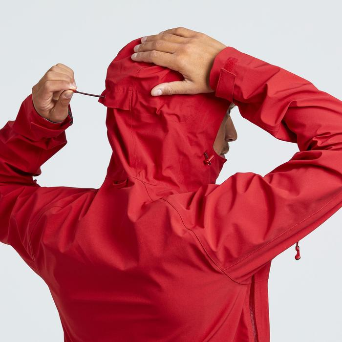 MH500 Men's Waterproof Mountain Walking Rain Jacket - Red