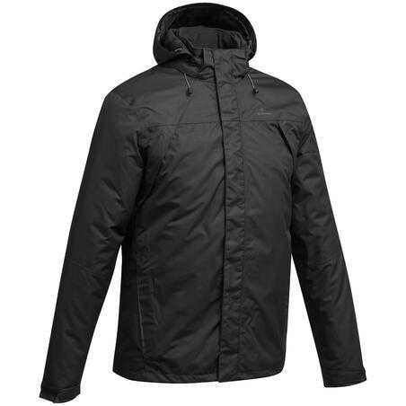 MH100 Men's Waterproof Mountain Hiking Rain Jacket - Black