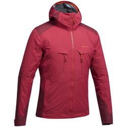 Chaqueta lluvia senderismo montaña MH900 impermeable hombre Rojo