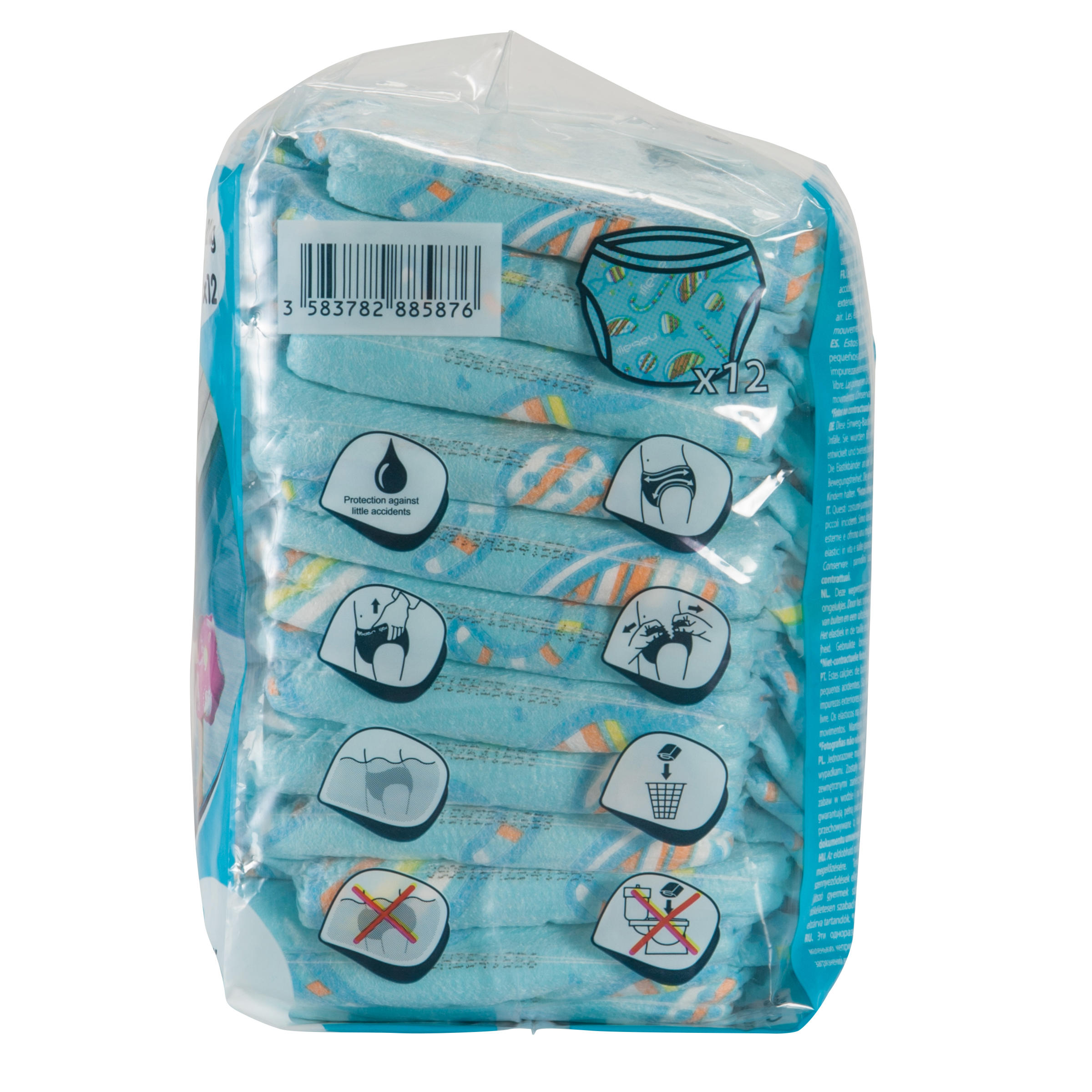 Disposable Swim Diaper for Water Activities for Babies 6-12 kg