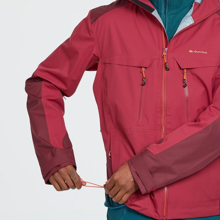 Heren regenjas voor bergwandelen MH900 rood