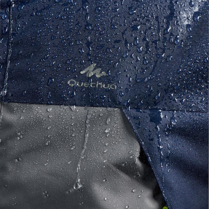 Chaqueta de lluvia de senderismo montaña MH100 impermeable hombre Azul Caqui