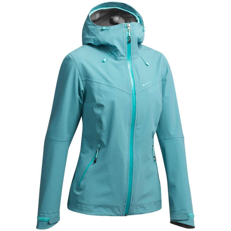 WOMEN MOUNTAIN HIKING JACKETS Hiking - MH500 W Jacket - Blue Grey QUECHUA - Hiking Jackets