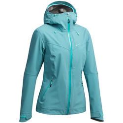 MH500 Women's Waterproof Mountain Walking Jacket - Blue Grey