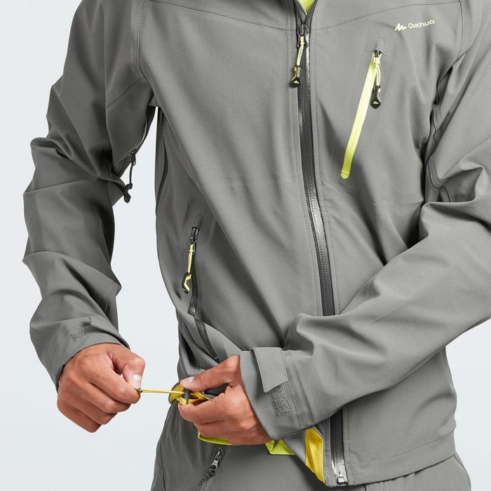 Chaqueta lluvia senderismo montaña MH500 impermeable hombre Gris Caqui