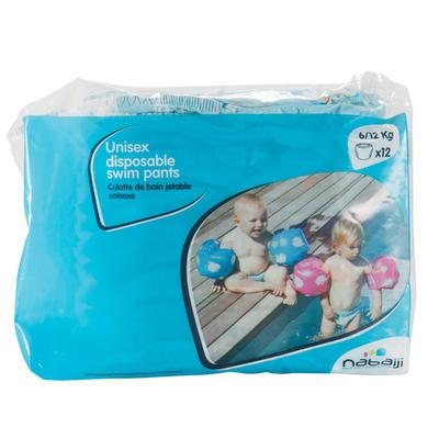 Pañal de baño desechables para actividades acuáticas para bebés de 6-12 kg