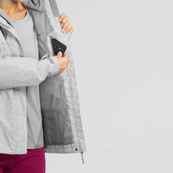 MH100 Women's Waterproof Mountain Walking Jacket - Mottled Grey