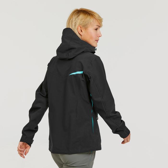 Veste imperméable de randonnée montagne femme MH500 Noir