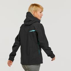Women's waterproof MH500 mountain hiking jacket - Black