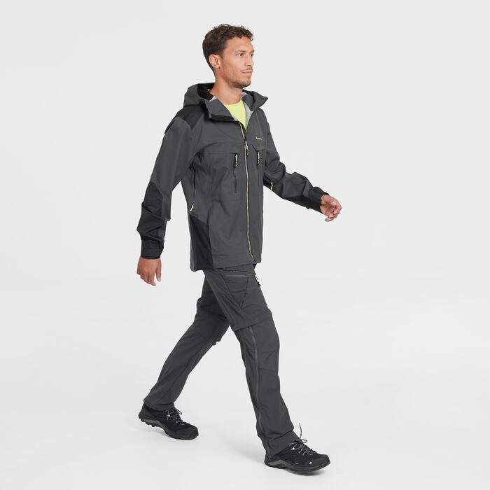 Veste pluie randonnée montagne MH900 imperméable homme Noir