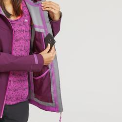 Wanderjacke Bergwandern MH500 wasserdicht Damen violett