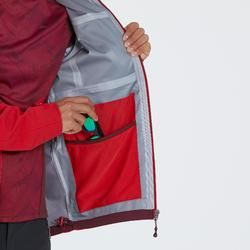 MH500 Men's Waterproof Mountain Walking Rain Jacket - Red