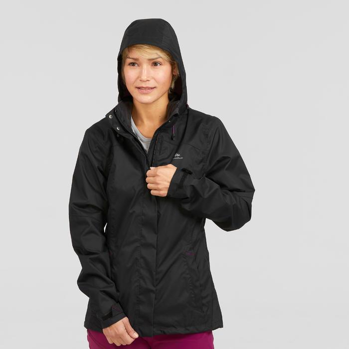 Veste imperméable de randonnée montagne femme MH100 Noir