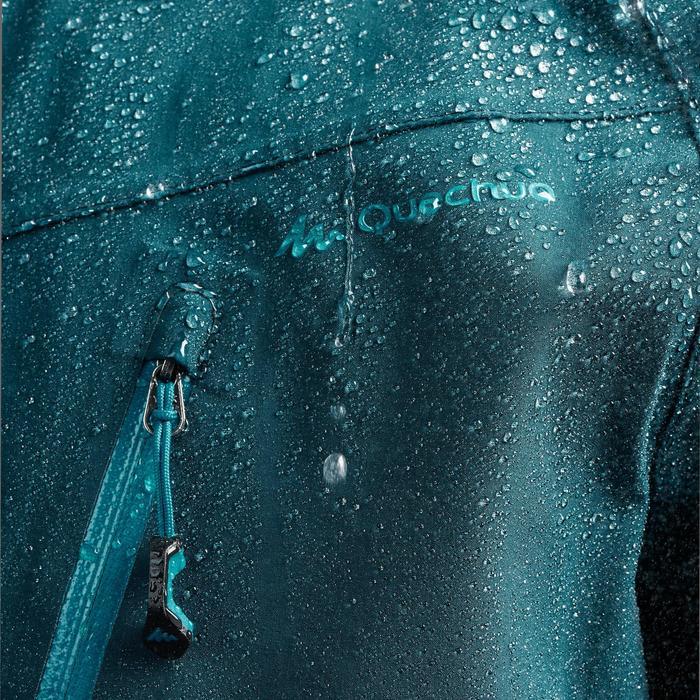 Chaqueta lluvia Senderismo en la montaña MH500 impermeable hombre Azul oscuro