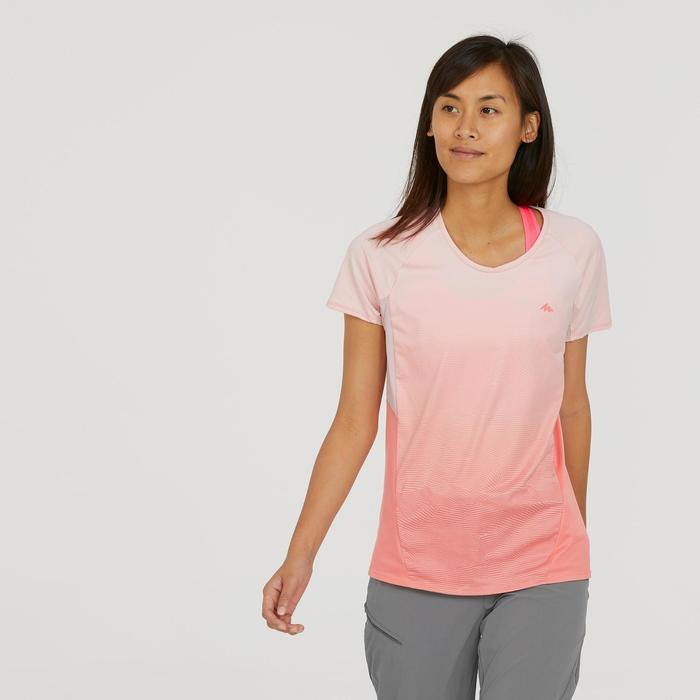 Women's Mountain walking short-sleeved T-Shirt - MH500