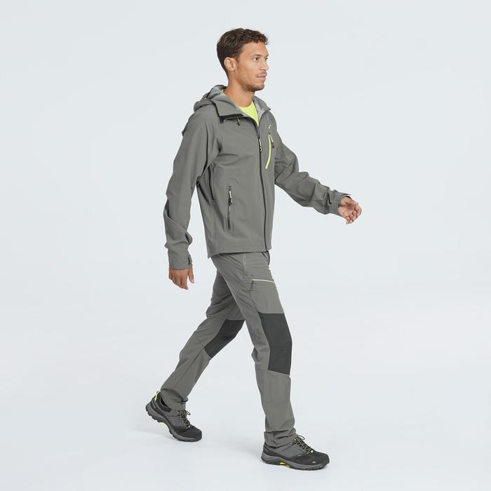 Wanderjacke Bergwandern MH500 wasserdicht Herren grau/kaki