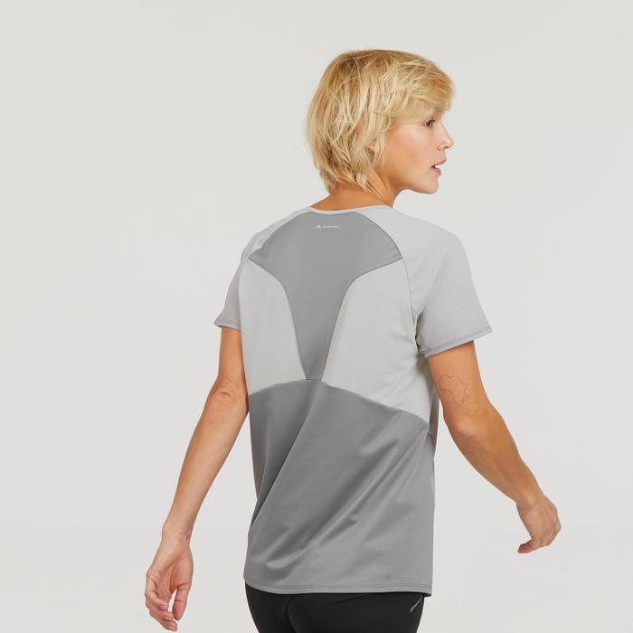 Women's MH500 mountain hiking short-sleeved t-shirt - Grey