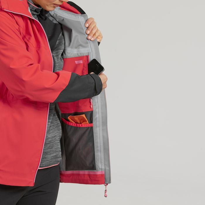 Veste imperméable de randonnée montagne femme MH900 Rouge orangé