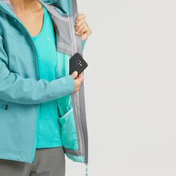 Veste imperméable de randonnée montagne femme MH500 Bleu gris