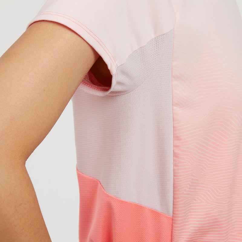 Women's T shirt MH500 - Salmon