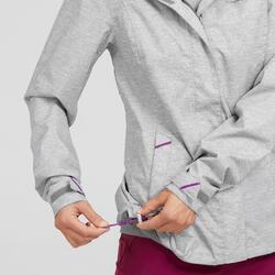 Regenjas voor wandelen voor dames MH100 grijs/roze