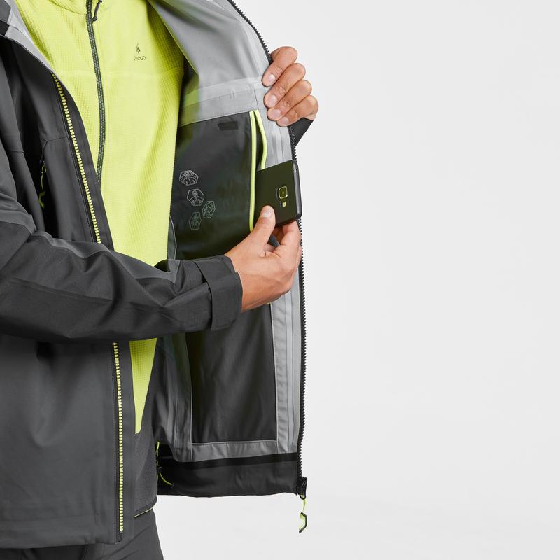Men's Mountain Hiking waterproof jacket MH900- Black
