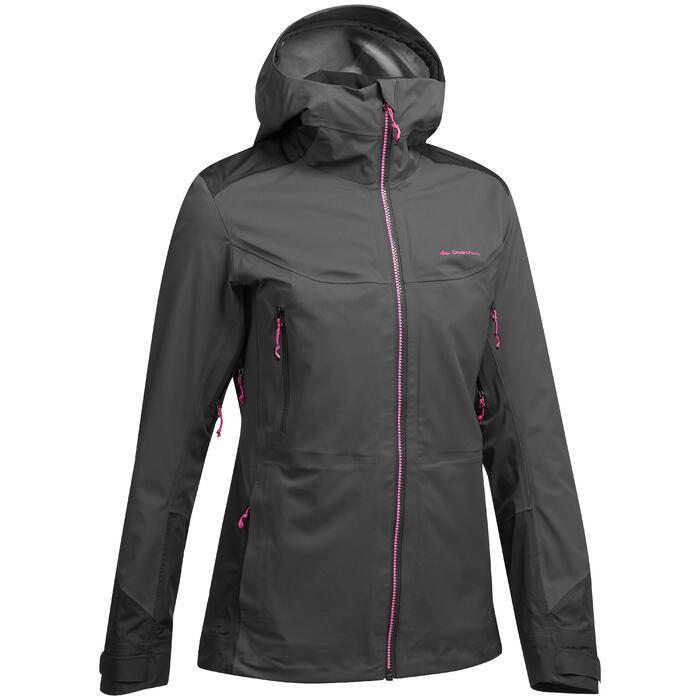 Chaqueta de lluvia impermeable de senderismo en la montaña MH900 Mujer negro
