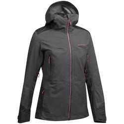 Waterdichte jas voor bergwandelen MH900 dames zwart