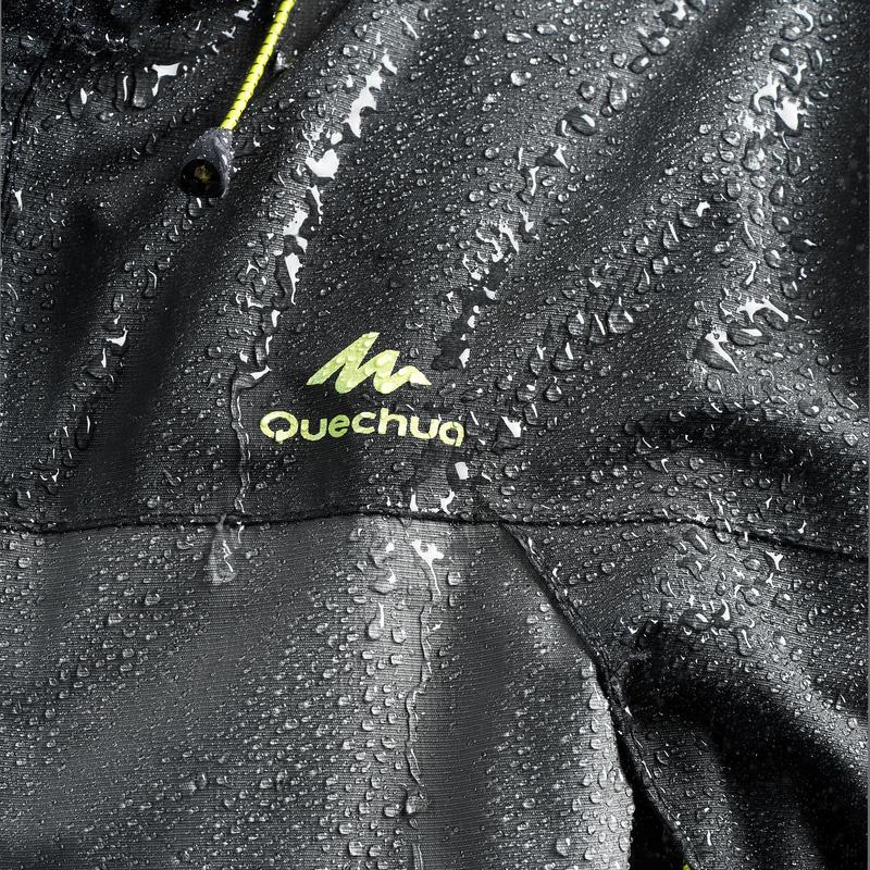 Men's Raincoat MH100 - Grey Black