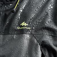 Veste pluie randonnée montagne MH100 imperméable homme Grise Noire