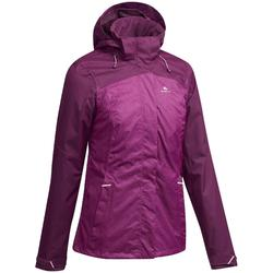 MH100 Women's Mountain Hiking Waterproof Jacket - Mottled Plum