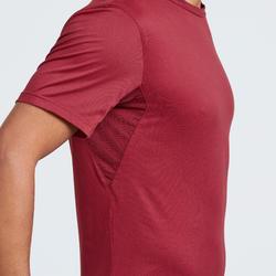 Camiseta manga corta de Montaña y Trekking Forclaz MH100 Hombre Rojo