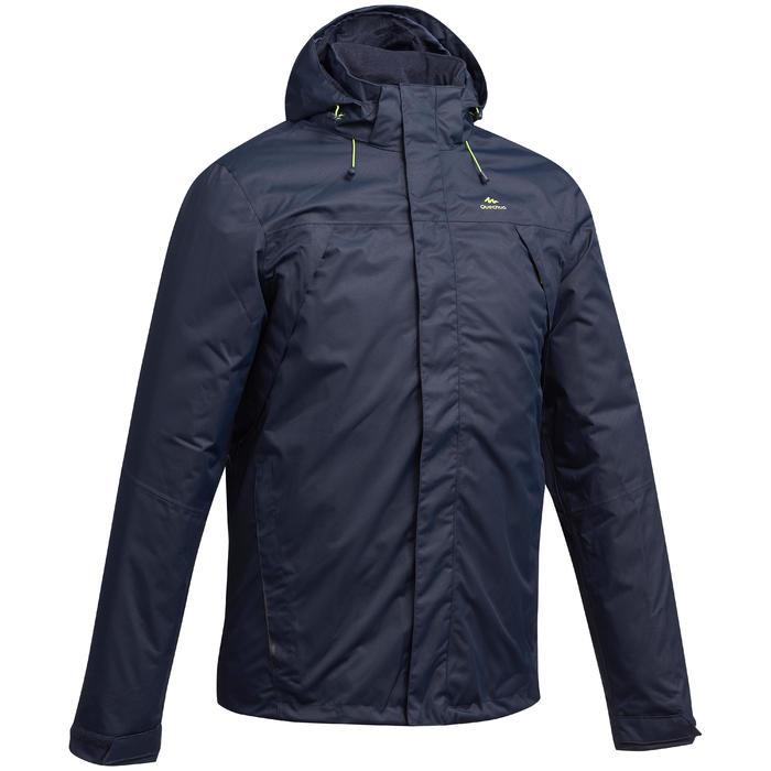 Veste pluie randonnée montagne MH100 imperméable homme Bleu