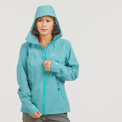 Chaqueta impermeable de senderismo montaña mujer MH500 Azul gris