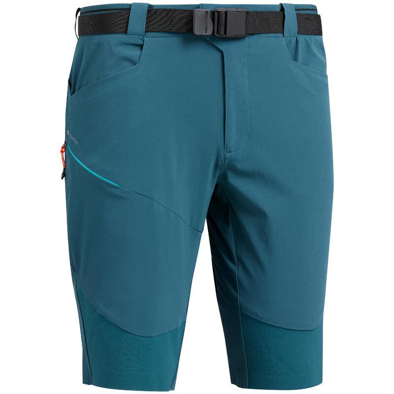 MH500 men's long mountain walking shorts - Blue